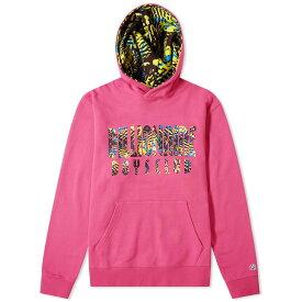 ビリオネアボーイズクラブ Billionaire Boys Club メンズ パーカー トップス【overdyed fish camo popover hoody】Pink