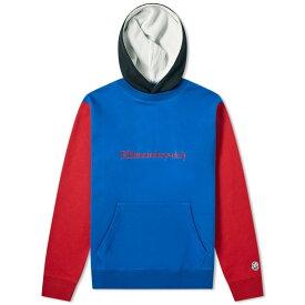 ビリオネアボーイズクラブ Billionaire Boys Club メンズ パーカー トップス【embroidered colour block popover hoody】Blue