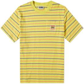ビリオネアボーイズクラブ Billionaire Boys Club メンズ Tシャツ ポケット トップス【woven stripe pocket tee】Yellow