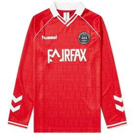 フォートゥーフォー 424 メンズ 長袖Tシャツ トップス【x hummel fairfax long sleeve jersey】True Red