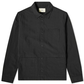 フォーク Folk メンズ ジャケット アウター【assembly chore jacket】Black Micro Ripstop