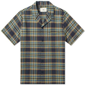 フォーク Folk メンズ 半袖シャツ トップス【short sleeve soft collar vacation shirt】Navy/Green