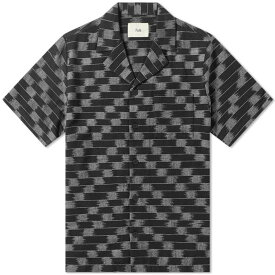フォーク Folk メンズ 半袖シャツ トップス【short sleeve soft collar vacation shirt】Black