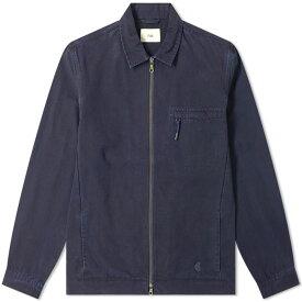 フォーク Folk メンズ ジャケット シャツジャケット アウター【zip shirt jacket】Navy