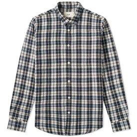 フォーク Folk メンズ シャツ フランネルシャツ トップス【checked flannel shirt】Navy Ecru Plaid