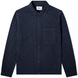 フォーク Folk メンズ ジャケット シャツジャケット アウター【orb shirt jacket】Navy