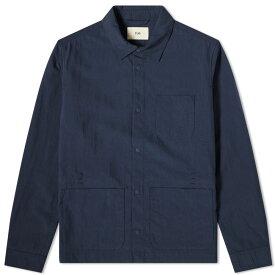 フォーク Folk メンズ ジャケット アウター【assembly chore jacket】Navy Nylon