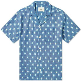 フォーク Folk メンズ 半袖シャツ トップス【short sleeve soft collar vacation shirt】Blue