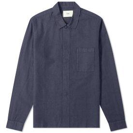 フォーク Folk メンズ シャツ トップス【patch pocket shirt】Navy