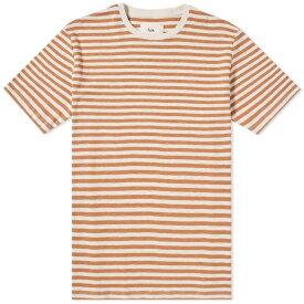 フォーク Folk メンズ Tシャツ トップス【classic stripe tee】Clay/Ecru