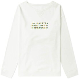 メゾン マルジェラ Maison Margiela メンズ スウェット・トレーナー トップス【10 oversized logo crew sweat】Off White
