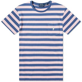 ラルフ ローレン Polo Ralph Lauren メンズ Tシャツ トップス【multi stripe tee】Pink/Blue