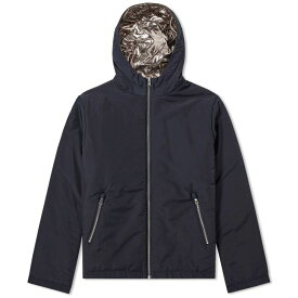 フォーク Folk メンズ パーカー トップス【reversible wadded hoody】Deep Navy/Metalic
