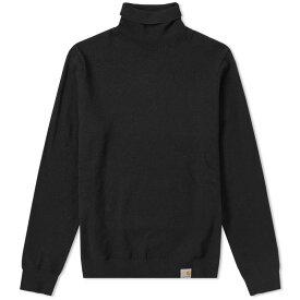カーハート Carhartt WIP メンズ ニット・セーター タートルネック トップス【carhartt playoff turtle neck knit】Black
