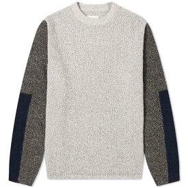 フォーク Folk メンズ ニット・セーター トップス【textured crew knit】Stone Black/Multi
