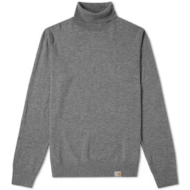 カーハート Carhartt WIP メンズ ニット・セーター タートルネック トップス【carhartt playoff turtle neck knit】Dark Grey Heather