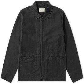 フォーク Folk メンズ ジャケット シャツジャケット アウター【zip shirt jacket】Soft Black