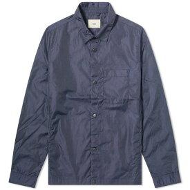 フォーク Folk メンズ ジャケット シャツジャケット アウター【orb nylon shirt jacket】Navy Crinkle