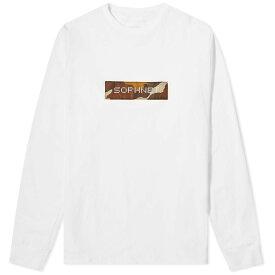 ソフネット SOPHNET. メンズ 長袖Tシャツ ロゴTシャツ トップス【long sleeve box logo tee】White