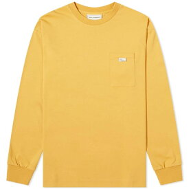 ドロール ド ムッシュ Drole de Monsieur メンズ 長袖Tシャツ ポケット トップス【long sleeve pocket tee】Yellow