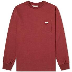 ドロール ド ムッシュ Drole de Monsieur メンズ 長袖Tシャツ ポケット トップス【long sleeve pocket tee】Burgundy