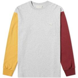 ドロール ド ムッシュ Drole de Monsieur メンズ 長袖Tシャツ トップス【long sleeve panel tee】Grey Multi