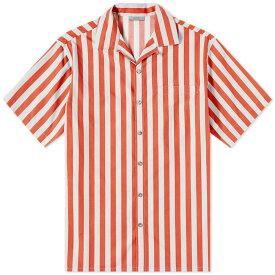 ランバン Lanvin メンズ 半袖シャツ トップス【stripe vacation shirt】Red/Light Grey