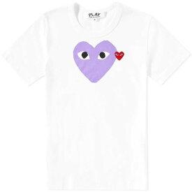 コム デ ギャルソン Comme des Garcons Play メンズ Tシャツ トップス【red heart colour heart tee】White/Red/Purple