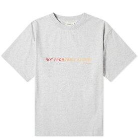 ドロール ド ムッシュ Drole de Monsieur メンズ Tシャツ ロゴTシャツ トップス【not from paris colour logo tee】Grey