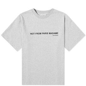 ドロール ド ムッシュ Drole de Monsieur メンズ Tシャツ トップス【classic slogan tee】Grey
