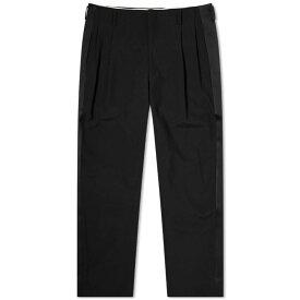 コム デ ギャルソン Comme des Garcons Homme Plus メンズ クロップド ボトムス・パンツ【cropped satin stripe wool pant】Black