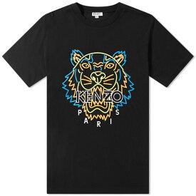 ケンゾー Kenzo メンズ Tシャツ トップス【neon tiger face tee】Black
