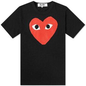 コム デ ギャルソン Comme des Garcons Play メンズ Tシャツ ロゴTシャツ トップス【heart logo tee】Black/Red
