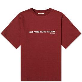 ドロール ド ムッシュ Drole de Monsieur メンズ Tシャツ トップス【classic slogan tee】Burgundy