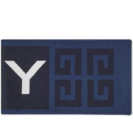 ジバンシー Givenchy メンズ マフラー・スカーフ・ストール 【4g logo football scarf】Navy/White/Black