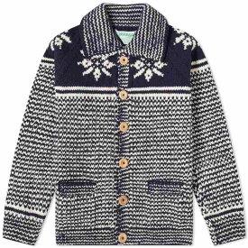 インバーアラン Inverallan メンズ カーディガン トップス【30e swedish snowflake lumber cardigan】Navy/Natural