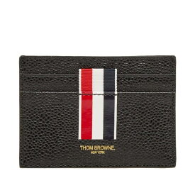 トム ブラウン Thom Browne メンズ カードケース・名刺入れ カードホルダー【Stripe Single Card Holder】Black