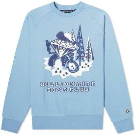 ビリオネアボーイズクラブ Billionaire Boys Club メンズ スウェット・トレーナー トップス【Diamond Character Crew Sweat】Blue
