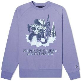 ビリオネアボーイズクラブ Billionaire Boys Club メンズ スウェット・トレーナー トップス【Diamond Character Crew Sweat】Lavender