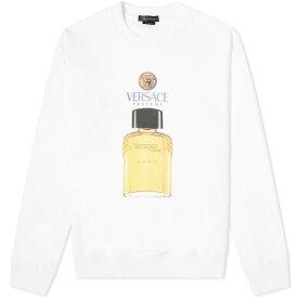 ヴェルサーチ Versace メンズ スウェット・トレーナー トップス【Fragrance Bottle Crew Sweat】White
