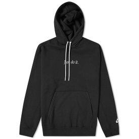 ナイキ Nike メンズ パーカー トップス【Just Do It Heavyweight Hoody】Black/White