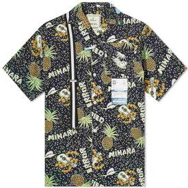 ミハラ ヤスヒロ Maison MIHARA YASUHIRO メンズ 半袖シャツ アロハシャツ トップス【Hawaiian Shirt】Black