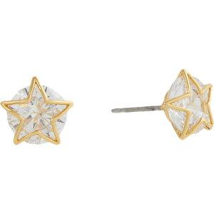 ケイト スペード Kate Spade New York レディース イヤリング・ピアス ジュエリー・アクセサリー【Something Sparkly Star Studs Earrings】Clear/Gold