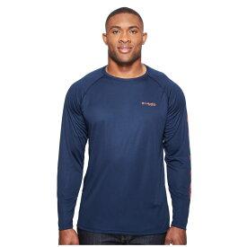 コロンビア メンズ トップス Tシャツ【Terminal Tackle' L/S Shirt - Extended】Collegiate Navy/Sunset Red Logo