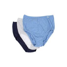 ジョッキー レディース インナー・下着 ショーツのみ【Plus Size Elance Brief 3-Pack】Deep Blue Heather/Deep Blue Dot/Sea Blue Denim Heather