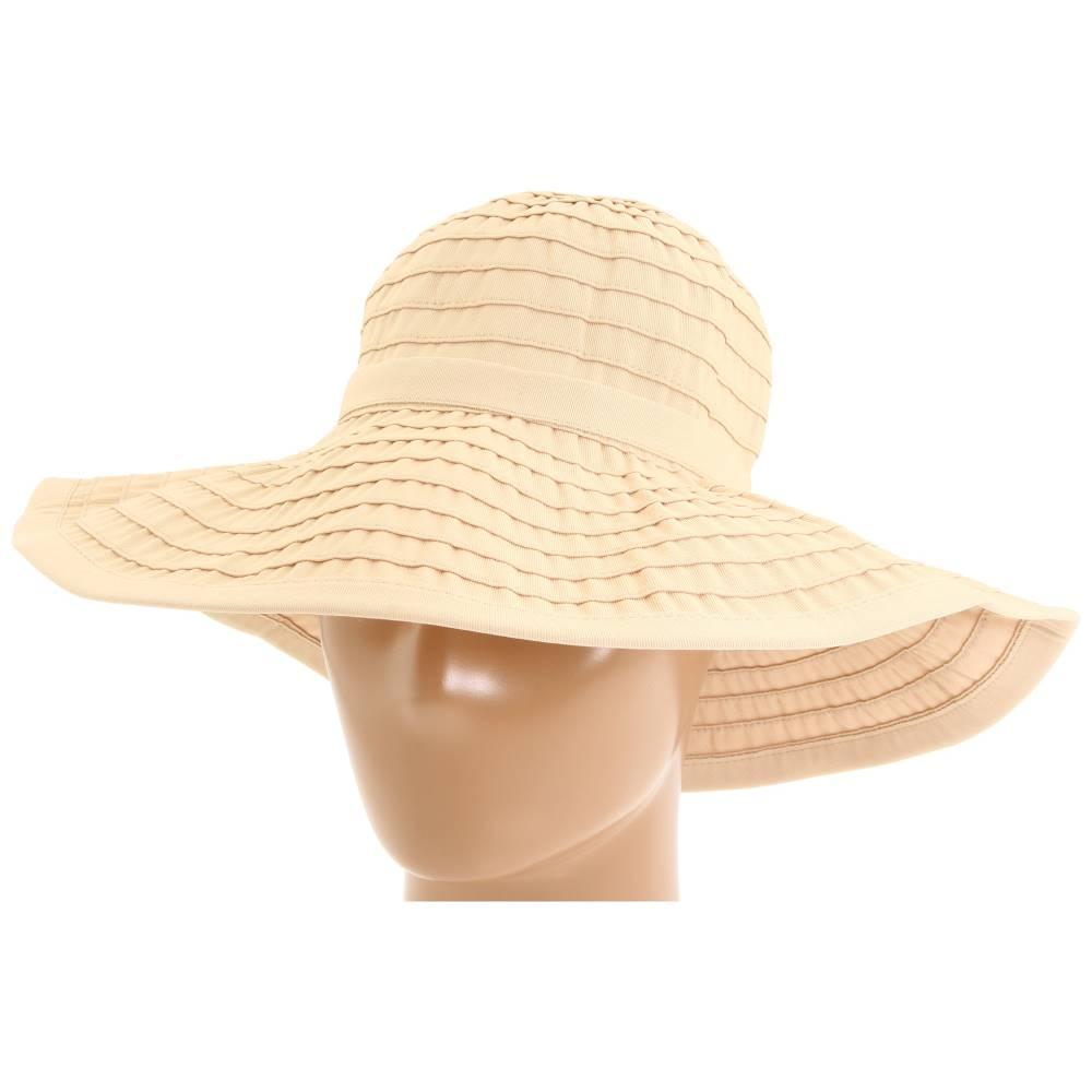 サンディエゴハット レディース 帽子 ハット【RBL299 Crushable Ribbon Floppy Hat】Beige