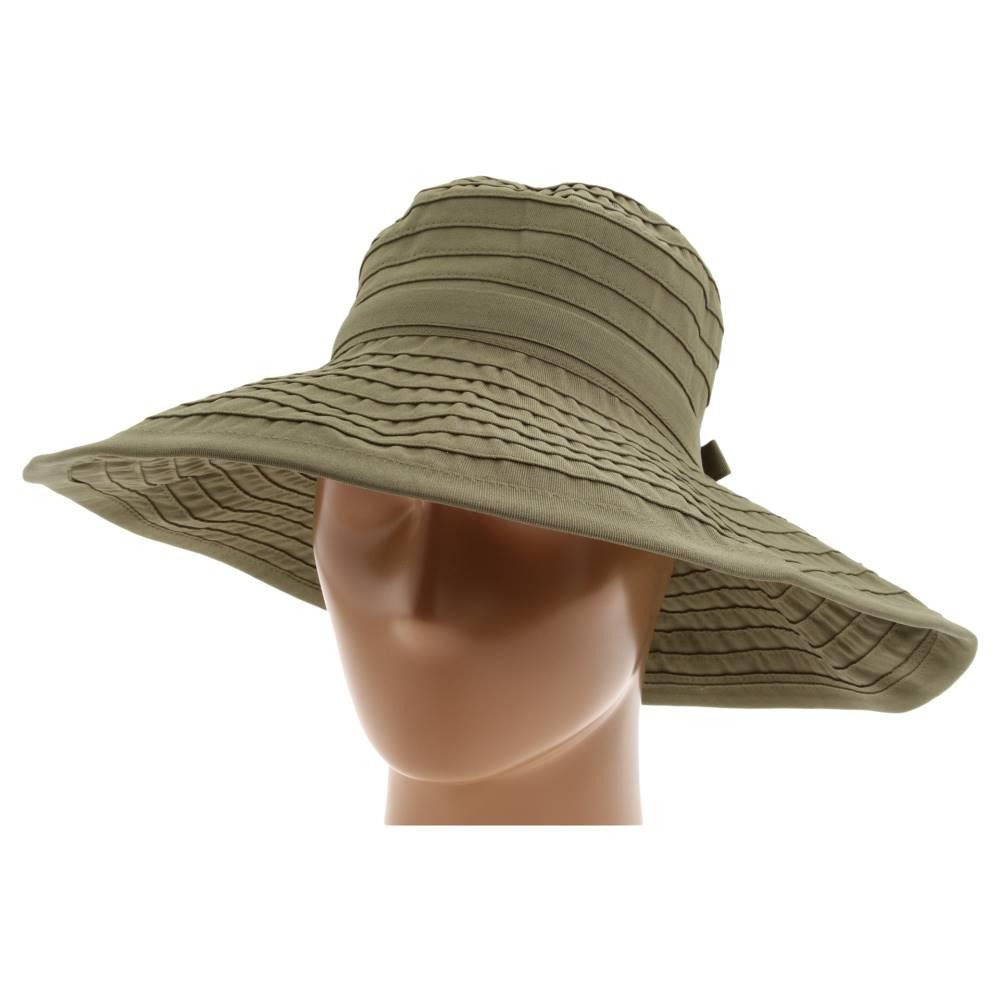 サンディエゴハット レディース 帽子 ハット【RBL299 Crushable Ribbon Floppy Hat】Olive