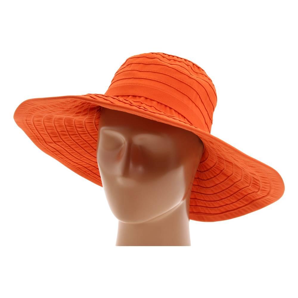 サンディエゴハット レディース 帽子 ハット【RBL299 Crushable Ribbon Floppy Hat】Rust