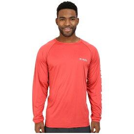 コロンビア メンズ トップス Tシャツ【Terminal Tackle' L/S Shirt】Sunset Red/White Logo