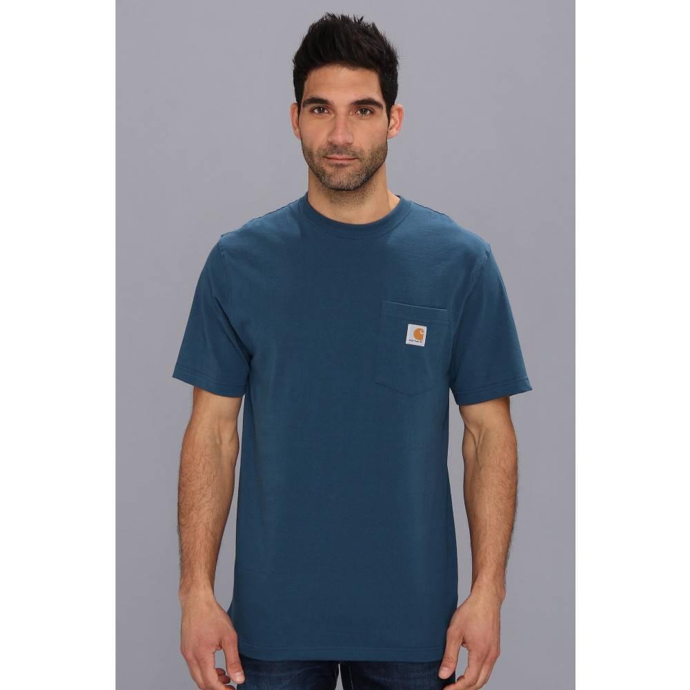 カーハート メンズ トップス Tシャツ【Workwear Pocket S/S Tee K87】Stream Blue